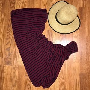 J. Crew Stripe Jersey Maxi Skirtdress